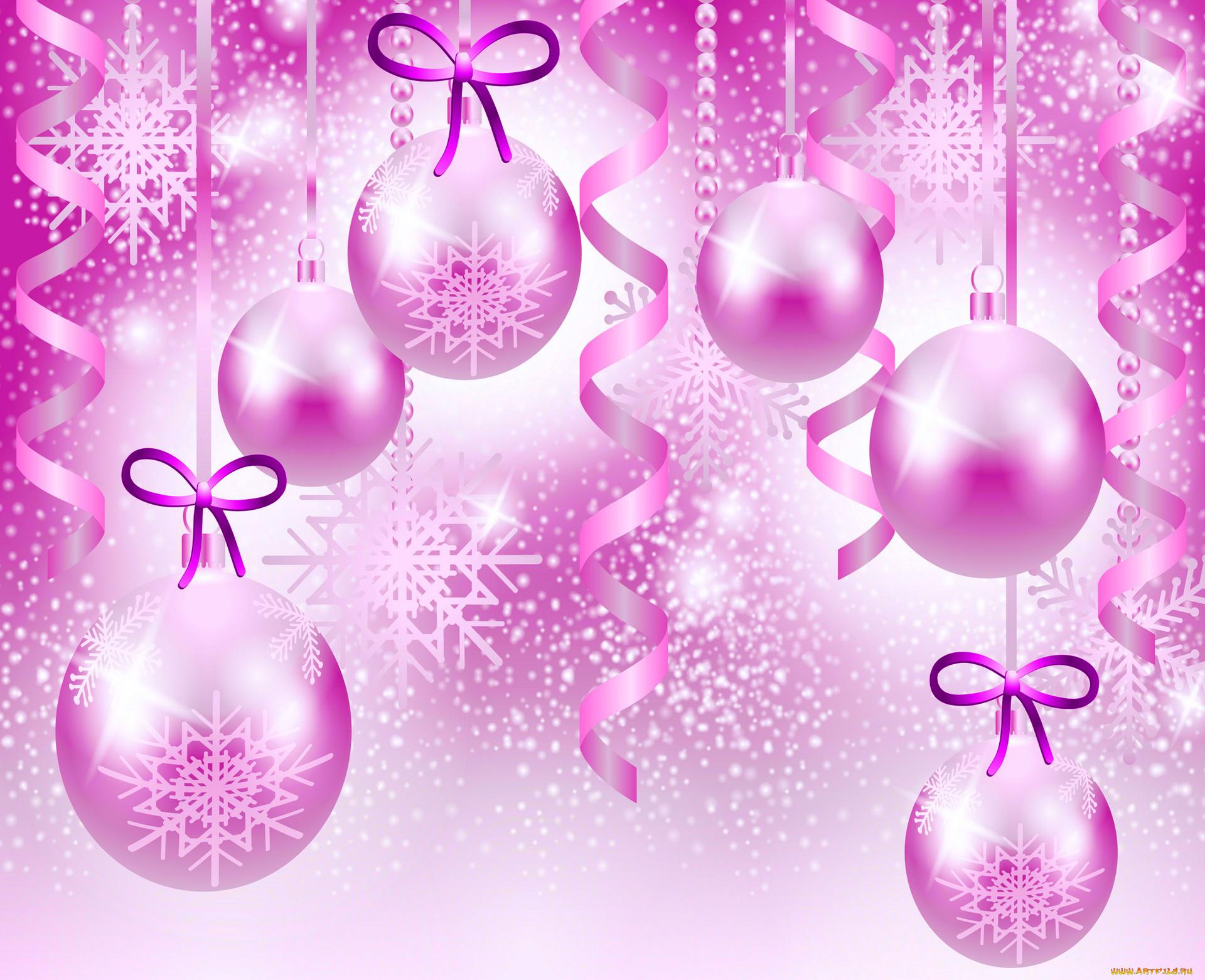 Новогодние шары и открытки, открытки