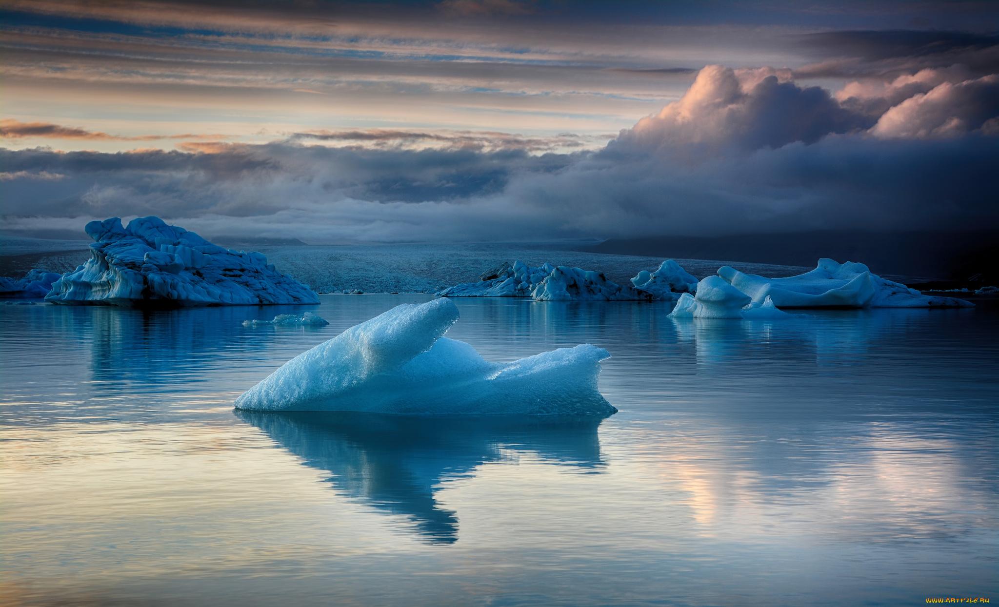 природа айсберг море горизонт nature iceberg sea horizon  № 3511040 без смс