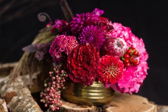 обоя цветы, букеты,  композиции, георгины, роза