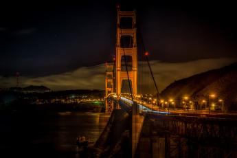 обоя города, - мосты, мост, золотые, ворота, сан, франциско, golden, gate, bridge