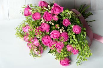 обоя цветы, букеты,  композиции, лента
