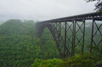 обоя города, - мосты, мост, лес