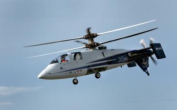 Картинка x2 sikorsky авиация вертолёты полет небо вертолет