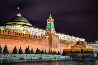 Картинка города москва+ россия кремлёвская стена москва кремль красная площадь мавзолей