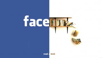обоя компьютеры, facebook, логотип, фон