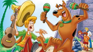 обоя мультфильмы, scooby doo, персонажи