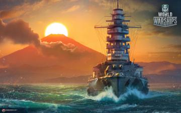обоя видео игры, world of warships, онлайн, action, симулятор, world, of, warships