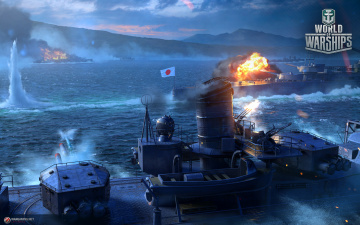 обоя видео игры, world of warships, онлайн, симулятор, world, of, warships, action