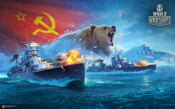 обоя видео игры, world of warships, симулятор, world, of, warships, онлайн, action