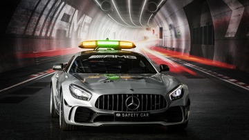 обоя mercedes-benz amg gt-r formula-1 safety car 2018, автомобили, полиция, amg, 2018, car, safety, formula-1, mercedes-benz, gt-r