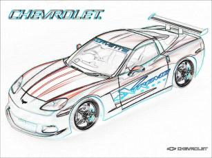 обоя corvette, таким, стал, рисованные, авто, мото