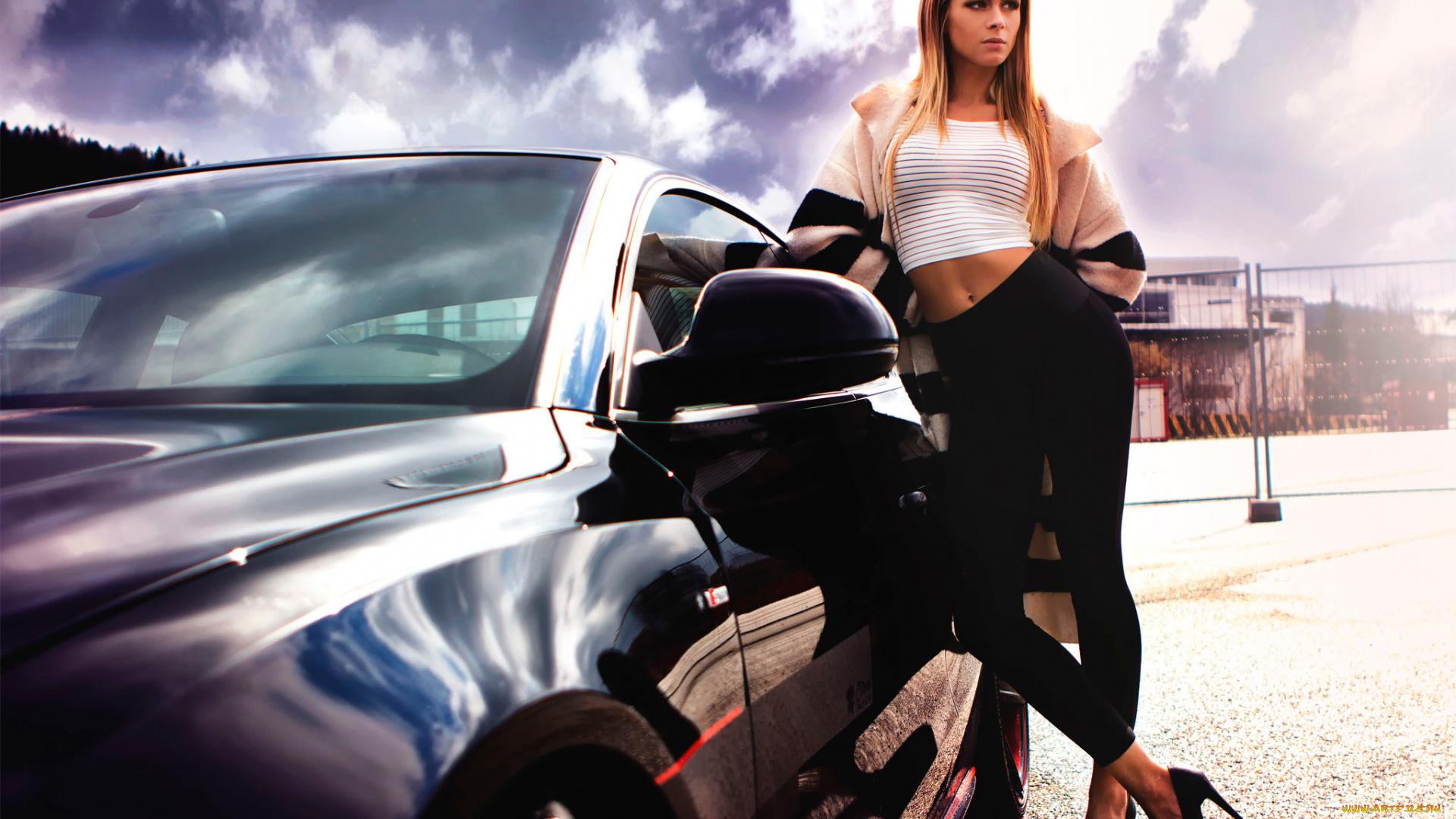 Смотреть картинки девушка с машиной