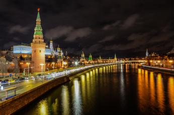 обоя города, москва , россия, москва, московский, кремль, москва-река