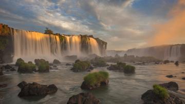 обоя природа, водопады, река, водопад, бразилия, парана, национальный, парк, игуасу