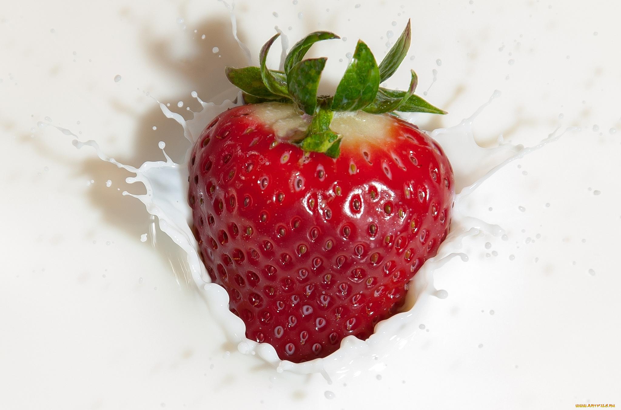еда клубника йогурт бесплатно