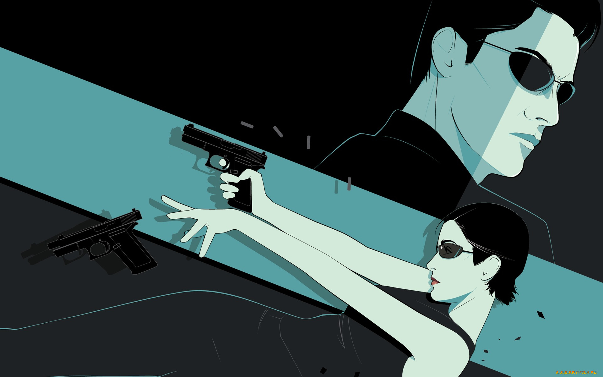 Матрица пистолет  № 3906184  скачать