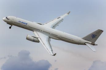 обоя tu-204sm, авиация, пассажирские самолёты, авиалайнер