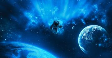 обоя космос, астронавты, космонавты, планета, астронавт