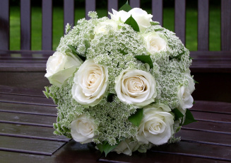 Картинка цветы букеты композиции розы белый свадебный
