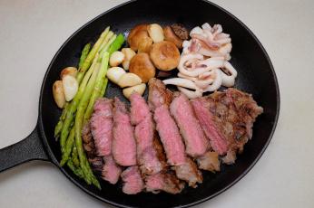 Картинка еда мясные+блюда грибы зелень мясо