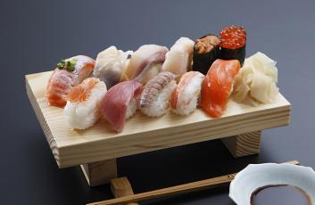 Картинка еда рыба +морепродукты +суши +роллы рис имбирь