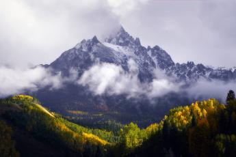 обоя природа, горы, гора, осень, лес