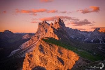 обоя природа, горы, утро, альпы, свет, склон, дома