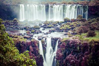 обоя природа, водопады, потоки, много