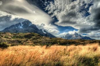 обоя природа, горы, Чили