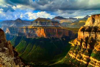 обоя природа, горы, каньон, скалы, свет