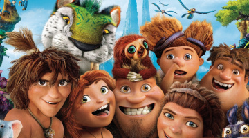 обоя мультфильмы, the croods, animated, film, tora, caveman, family, tiger, the, croods, 2, movie, face
