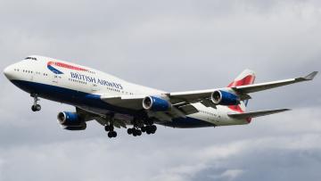 Картинка boeing+747-400 авиация пассажирские+самолёты авиалайнер
