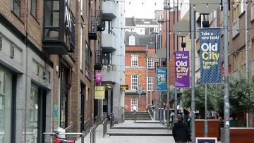 обоя города, дублин , ирландия, улочка