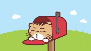 обоя мультфильмы, -unknown , разное, почтовый, ящик, кот