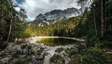 обоя природа, пейзажи, лесное, горы, озеро