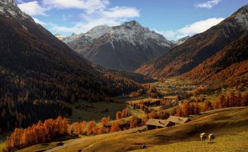 обоя природа, горы, пейзаж