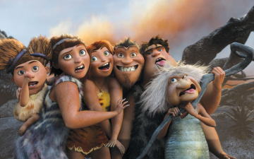 обоя мультфильмы, the croods, the, croods, 2, caveman, family