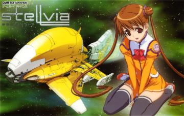 обоя аниме, stellvia of the universe, девушка, космический, корабль, хвостики, форма