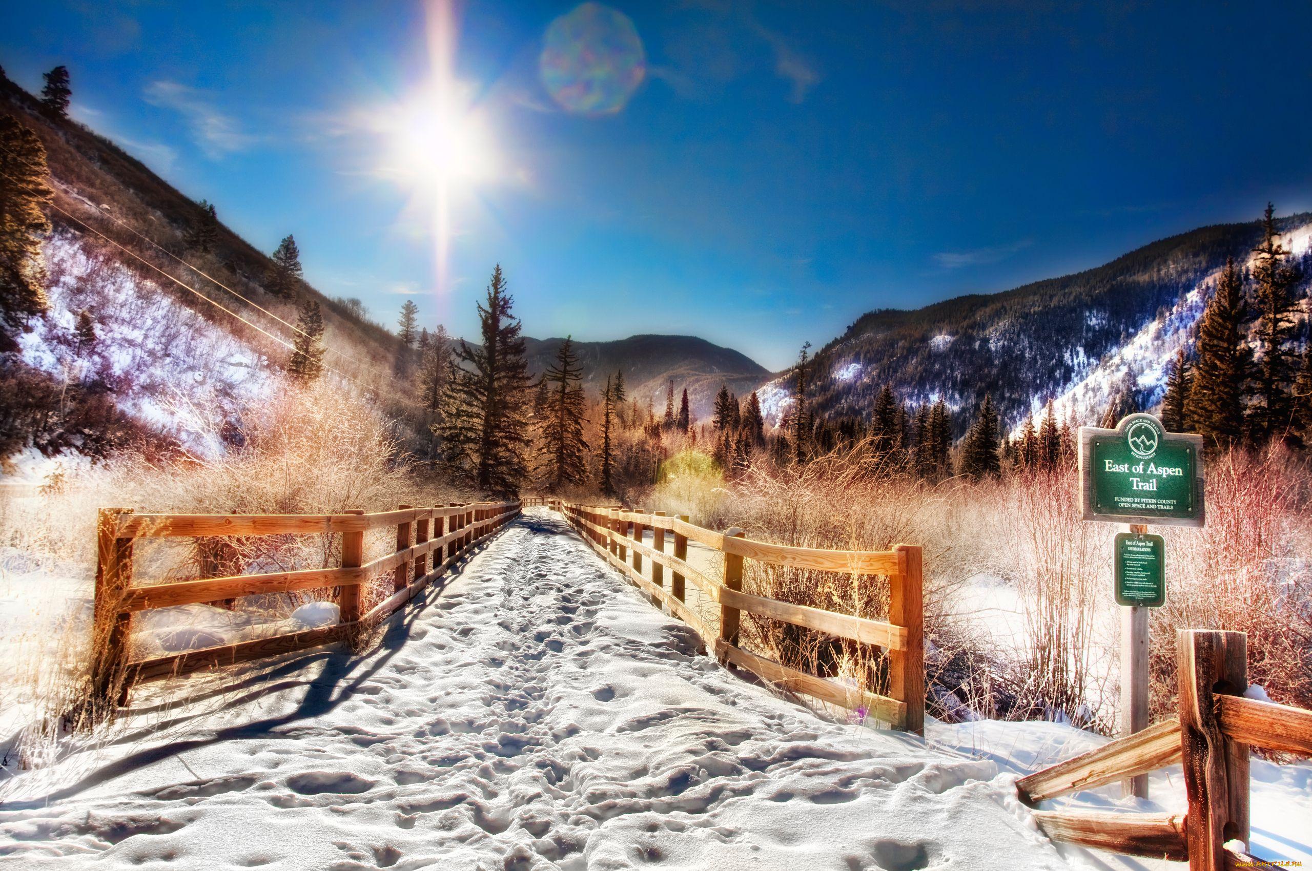 деревня зима горы  № 3188436  скачать