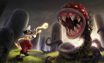 Картинка super+mario фэнтези существа червь
