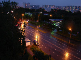 обоя города, огни, ночного