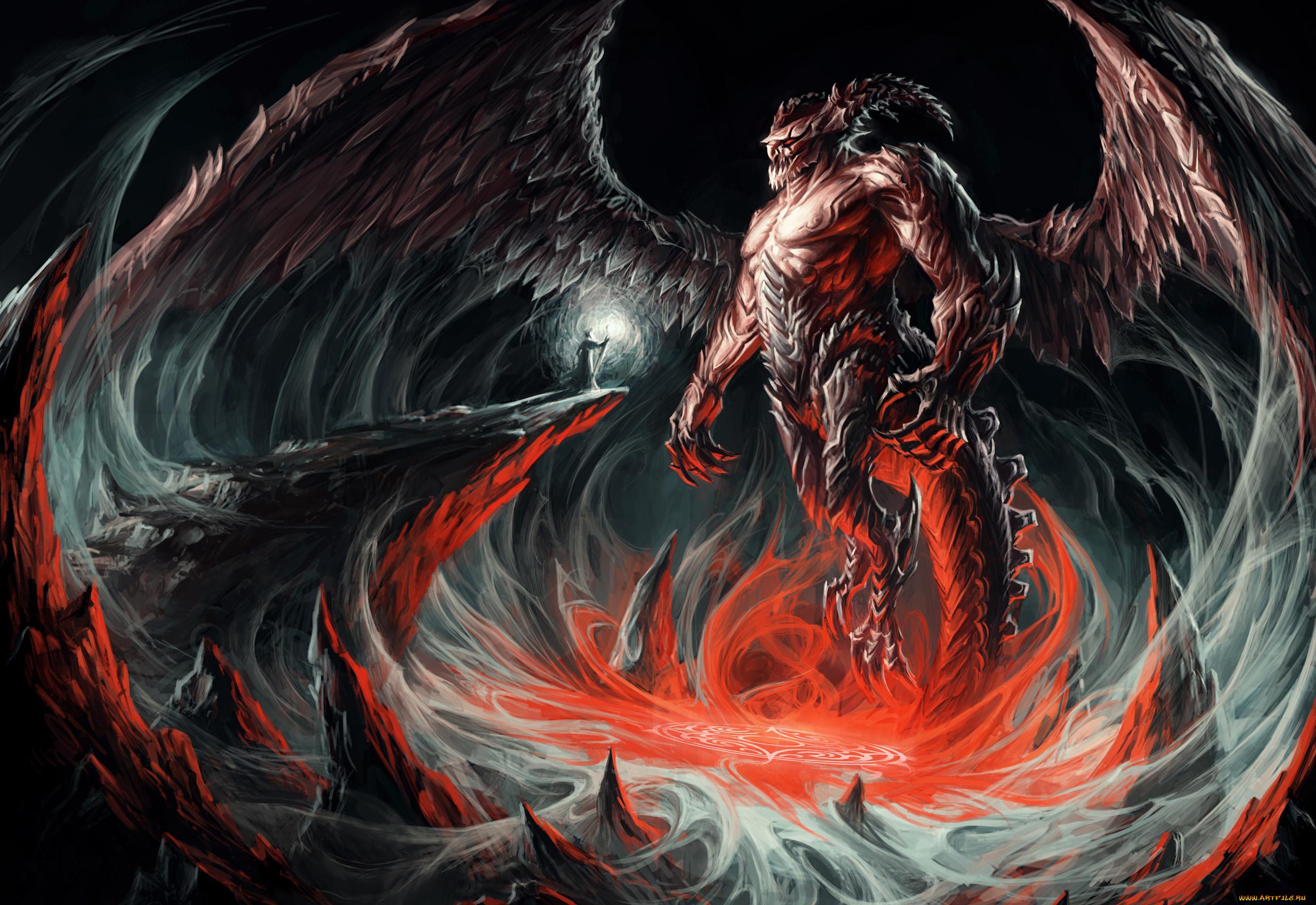 Открытку друзьям, крутые картинки про демонов