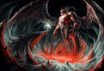 Картинка фэнтези демоны крылья