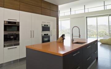 Картинка интерьер кухня ножи бытовая техника дом