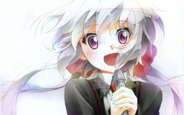 Картинка аниме senki+zesshou+symphogear радость девушка chris yukine senki zesshou symphogear арт микрофон