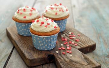 Картинка еда пирожные +кексы +печенье cupcake dessert sweet love heart roses пирожное кекс выпечка десерт сладкое сердечки
