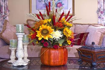 обоя цветы, букеты,  композиции, шкатулка, подсвечник
