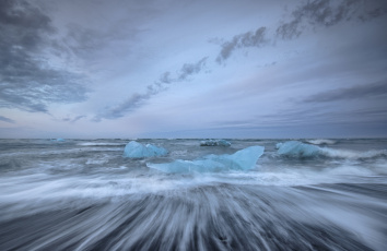 Картинка природа айсберги+и+ледники небо берег лёд