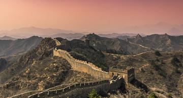 обоя great wall of china, города, - исторические,  архитектурные памятники, крепость, стена, горы