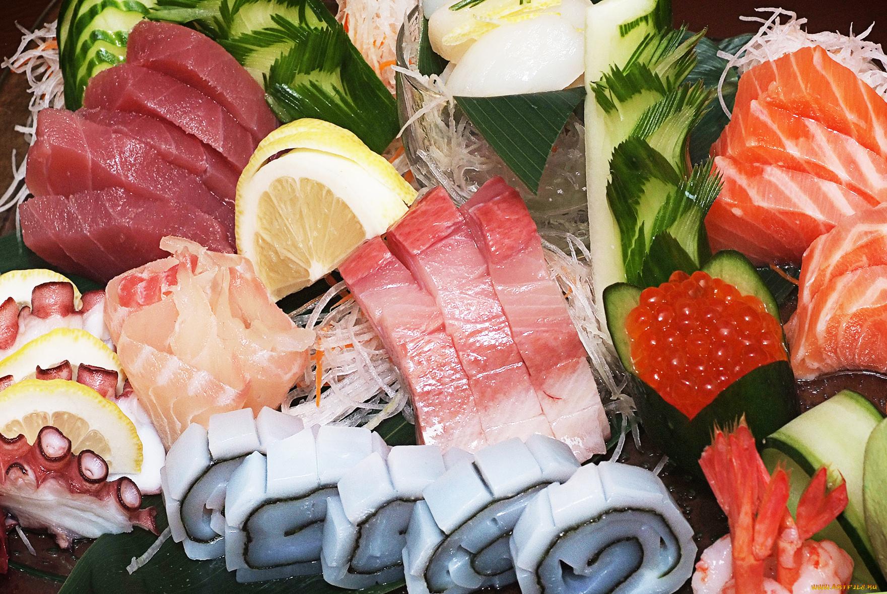 Открыток новому, картинки рыбные деликатесы